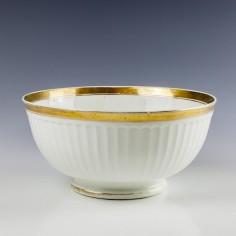 Swansea Porcelain Ribbed Slop Bowl c1820