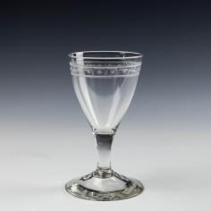 A Pair 18th Century Wine Glasses c1780