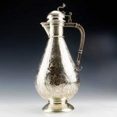 Art Nouveau Silver Plated Claret Jug c1910