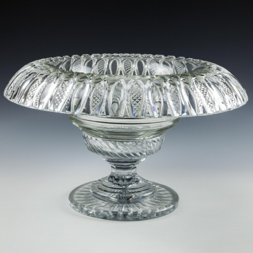 A Georgian Cut Glass Two Piece Bowl c1835