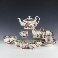 Machin Mandarin Pattern Six Person Tea set  c1815