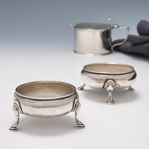Two Sterling Silver Salts London 1773 and 1768