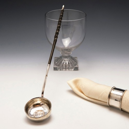 18th Century Silver Toddy Ladle With 1758 George II Shilling