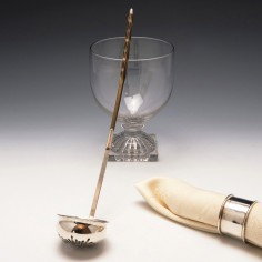 18th Century Fluted Silver Toddy Ladle with 1758 George II Shilling