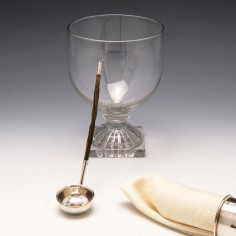 Small Silver Sauce or Toddy Ladle with Baleen Handle c1810