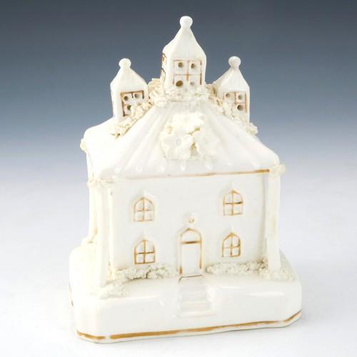 Staffordshire Porcelain Pastille Burner c1840