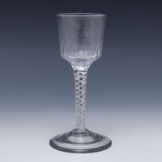 Georgian Petal Moulded Single Series Opaque Twist Wine Glass