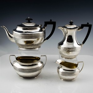 Four Piece Sterling Silver Tea and Coffee Service 1895