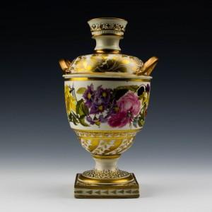 A Derby Porcelain Urn Shape Vase c1820