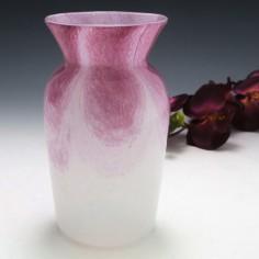 Signed Gray-Stan Mottled Pink Over White Vase c1930