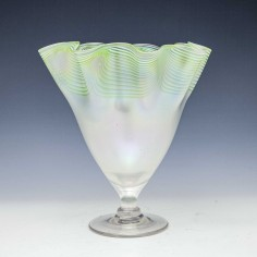 John Walsh Walsh Opalescent Fazzoletto Vase c1895
