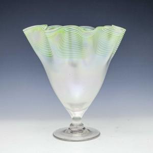 John Walsh Walsh Opalescent Fazzoletto Vase c1895