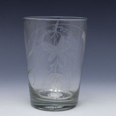 An Engraved 18th Century One And A Half Pint Glass c1790