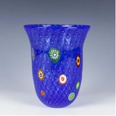 Signed Gambaro & Poggi Murano Bullicante Enamelled  Vase