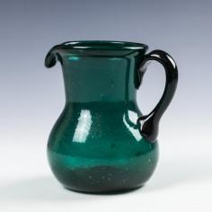 Victorian Emerald Green Glass Milk Jug c1850