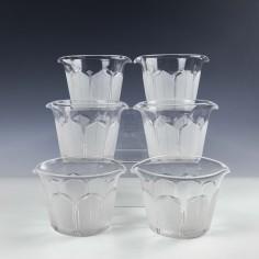 Six Victorian Wine Glass Rinsers c1880