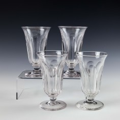 Set of Four Late Victorian Jelly Glasses c1890