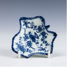 Beth First Period Worcester Blue & White Pickle Dish c1765