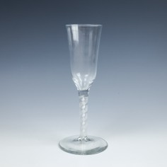 Tall Double Series Opaque Twist Ale Glass c1765
