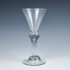 A Baluster Wine glass c1720