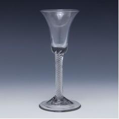 Bell Bowl Multi Spiral Air Twist Wine Glass c1750