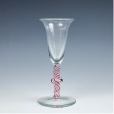 Dutch Colour Twist Wine Glass c1780
