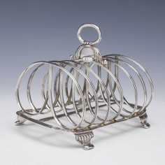Georgian Sterling Silver Six division Toast Rack London 1817