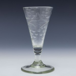 Engraved Georgian Ale Glass c1780