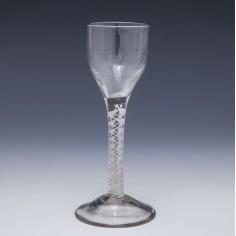 Georgian Opaque Twist Wine Glass c1750