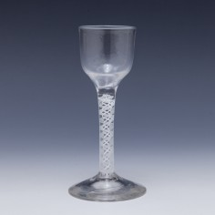 Georgian Opaque Twist WineGlass c1760