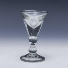 Deceptive Georgian Dram Glass c1800