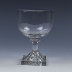 Georgian Glass Rummer with Lemon Squeezer Foot c1800