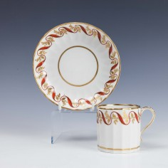 Derby Porcelain Coffee Can and Saucer 1790