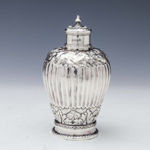 Sterling Silver Tea Canister London 1884