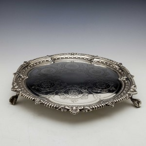 Victorian Sterling Silver Salver London 1900
