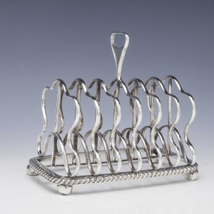 Georgian Six Division Sterling Silver Toast Rack Sheffield 1819