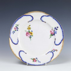 Sevres Hard Paste Porcelain Plate 1780