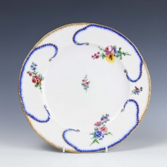 RESERVED COUCOU-Sevres Hard Paste Porcelain Plate 1780