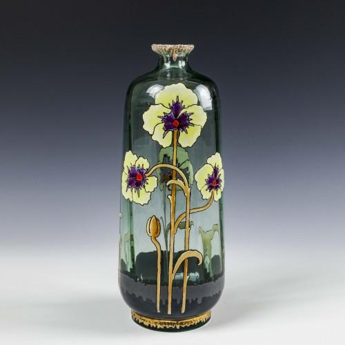 A French Art Nouveau Enamelled Vase c1920