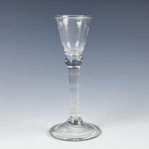 Georgian Balustroid Stem Cordial Glass c1735
