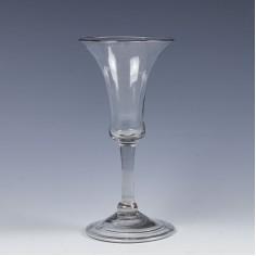 An Elegant Balustroid Wine Glass c1740