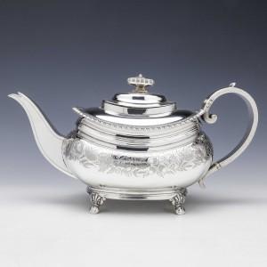 Georgian Sterling Silver Teapot London 1814