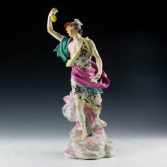 A Derby porcelain figure of Mercury c1775