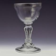 18th Century Pedestal Stem Champagne Glass c1760