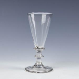 Georgian Ale Glass With Knopped Stem c1820