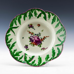 Longton Hall Porcelain Plate c1757