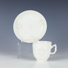 Bow Porcelain Blanc De Chine Coffee Cup And Saucer c1755