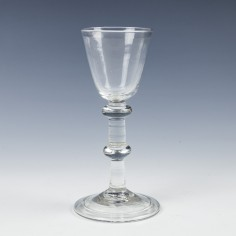 An 18th Century Balustroid Wine Glass c1740