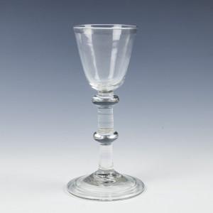An 18th Century Balustroid Wine Glass c1740