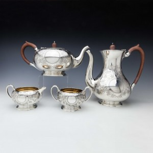 Sterling Silver Tea and Coffee Service Birmingham 1924